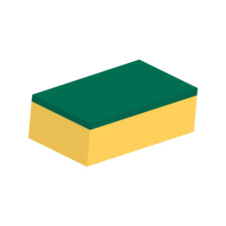 Picture of a sponge on a white background.