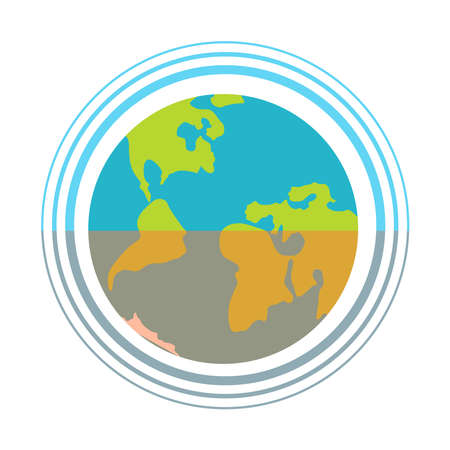 Planet ecology icon on a white background.