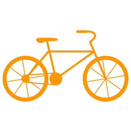 Bicycle icon on a white background. Ilustracja