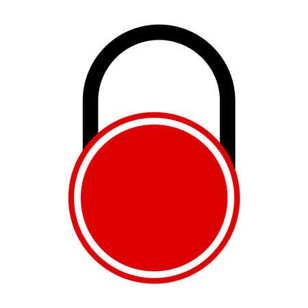Locked icon on a white background. Ilustracja