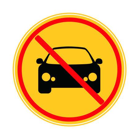 Car ban icon on a white background.