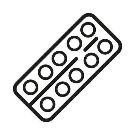 Pills icon on a white background.