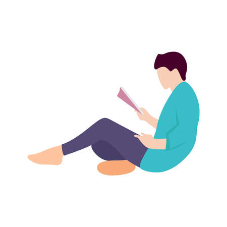 Picture of people reading books.