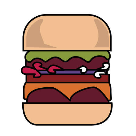 picture of a burger on a white background.