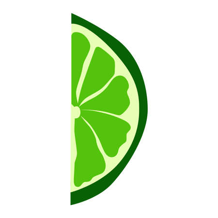 picture of lime on a white background.
