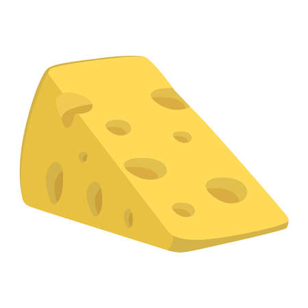 picture of cheese on a white background. Ilustracja