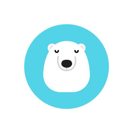 Polar bear icon on a white background.