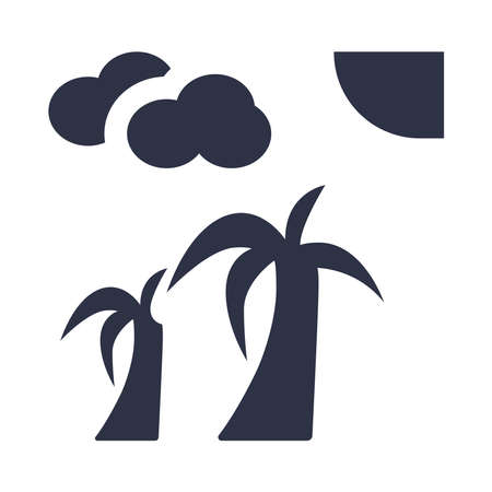 Subtropical icon on a white background.