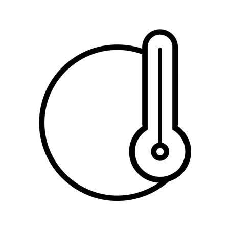 Thermometer icon on a white background. Ilustracja