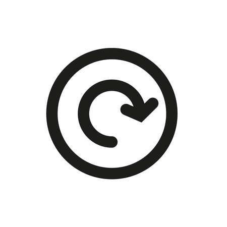 Arrow icon in a circle on a white background. Vektorgrafik
