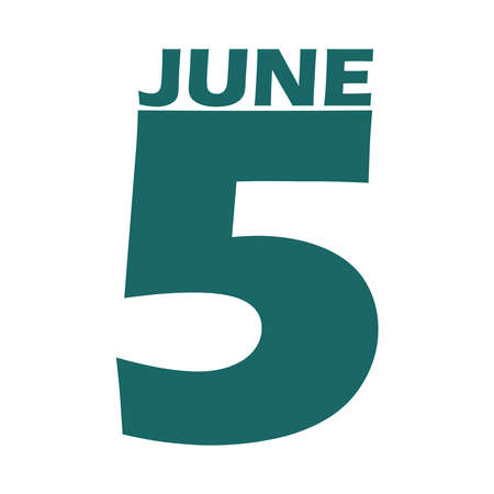 June 5 icon on a white background.