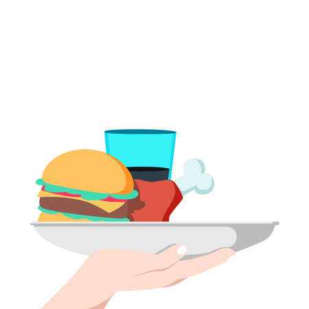 picture with fast food on a white background.