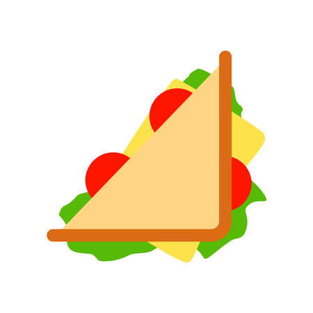 Picture of a sandwich on a white background. An interesting picture.