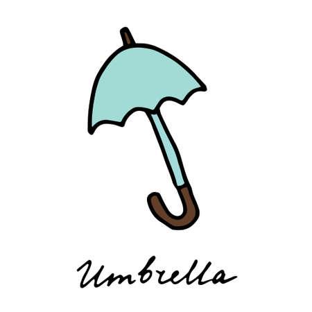 vector illustration colored doodle Umbrella.
