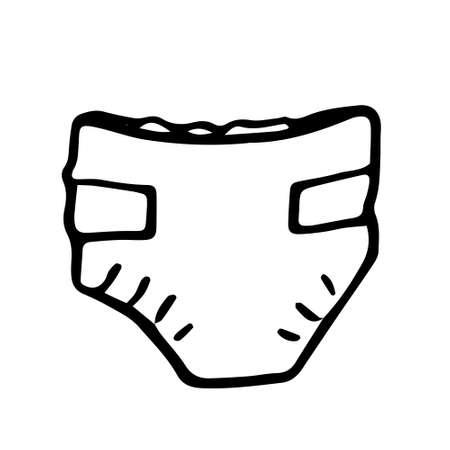 Baby newborn hand drawn doodle set, pacifier, rattle. Vector illustration for backgrounds, web design, design elements, textile prints, covers