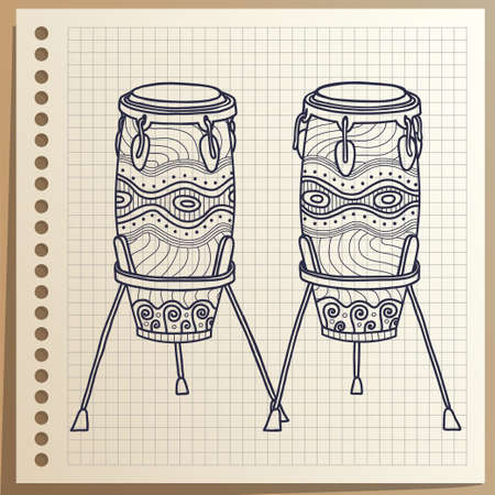 African drums. Musical Instrument. Percussion. Conga