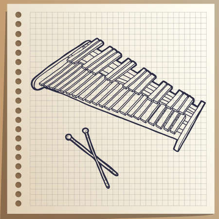 Musical Instrument. Xylophone. Percussion.