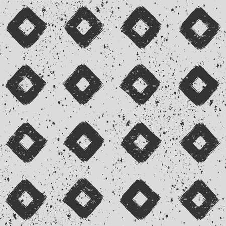 Gray geometric seamless background. Grunge print. Vector hand-drawn abstract monochrome pattern. Decorative pattern for wrapping, fabric, wallpaper, background, cover design.