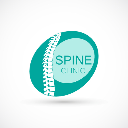 Spine creative logo clinic medicine chiropractic backbone health elipse illustration Illustration