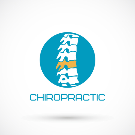 A round spine clinic medicine chiropractic backbone health illustration