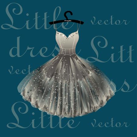 Light beige dress hand drawn vector illustration. Illustration