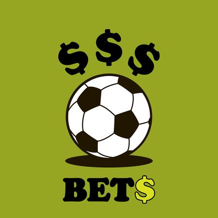 Sport betting ball soccer vector illustration isolated on white background.