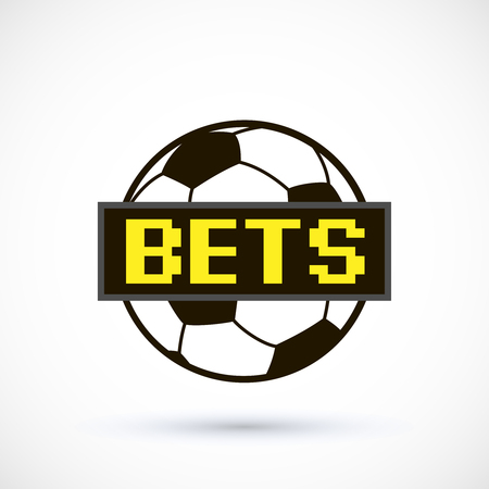 Sport betting ball soccer with scoreboard vector illustration isolated on white background.