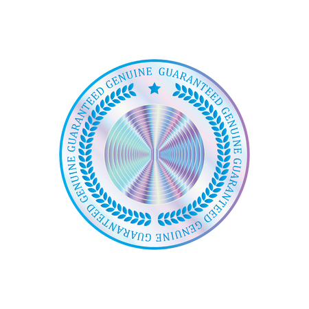 Holographic design illustration circle shape sticker quality emblem