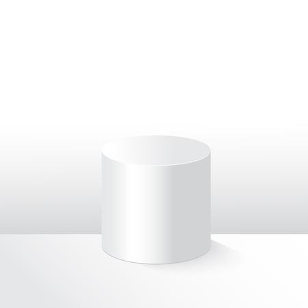 White empty shape one pedestal illustration podium template
