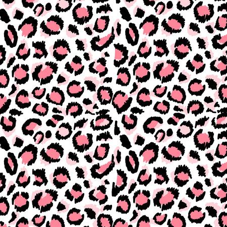 Pattern leopard trendy print pink color exotic illustration