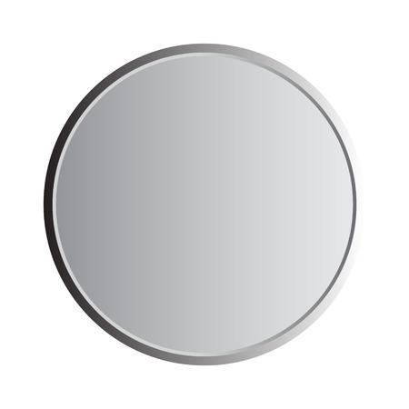 Round gray metallic illustration on white background Illustration
