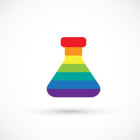 Studio d'arte di design creativo del logo becher arcobaleno Archivio Fotografico - 95618638