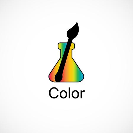 Studio di arte creativa di progettazione del logo della spazzola del becher dell'arcobaleno