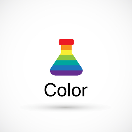 Rainbow beaker color logo creative design art studio