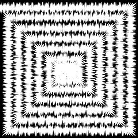 White pattern spiral square background, fur texture
