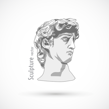 Head sculpture trendy art design statue illustration