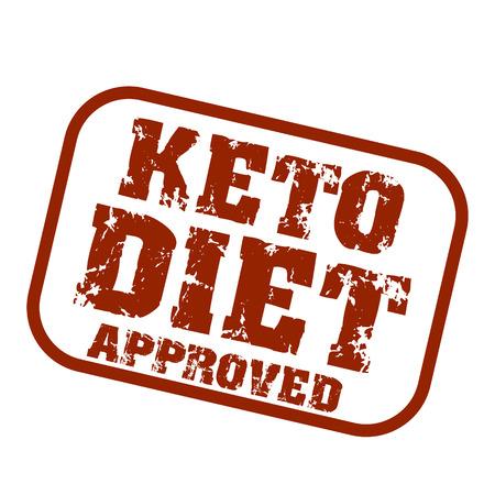 Ketogenic diet logo sign keto icon stamp illustration Stock Vector - 116414397