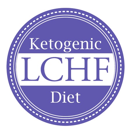 Ketogenic diet logo sign keto icon stamp illustration Illustration