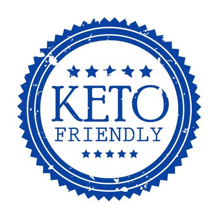 Ketogenic diet logo set sign keto icon stamp illustration