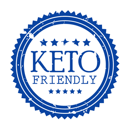 Ketogenic diet logo set sign keto icon stamp illustration
