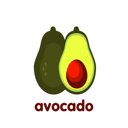 Drawing avocado illustration bright ingredient logo
