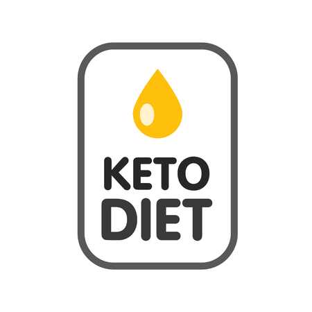 Ketogenic diet logo sign keto icon stamp illustration Stock Vector - 116414581