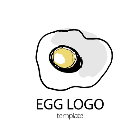 Egg food logo illustration sketch scrambled product
