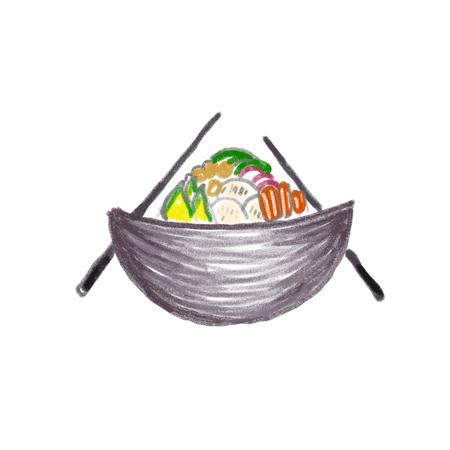 Poke Bowl Hawaiian cuisine food natural restaurant Фото со стока