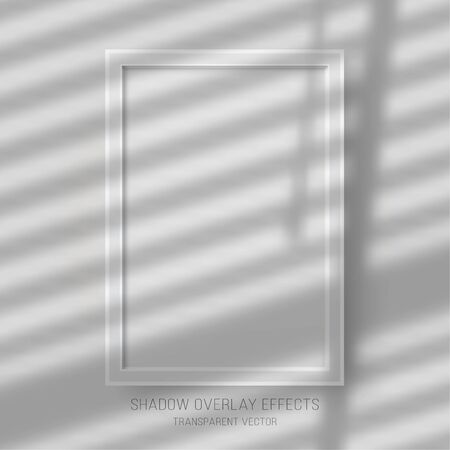 Shadow overlay effects transparent shutter