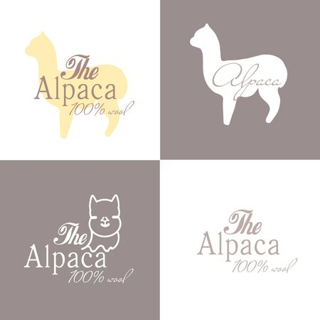 Alpaca sign illustration soft nature wool lama 版權商用圖片 - 133012841