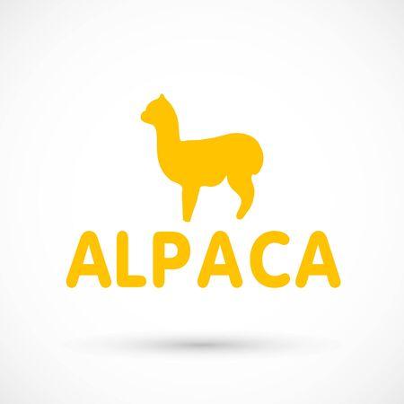Alpaca sign illustration soft nature wool lama 版權商用圖片 - 133012842