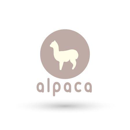 Alpaca sign illustration soft nature wool lama 版權商用圖片 - 133012846