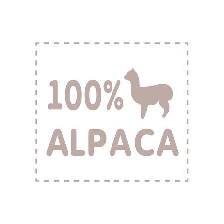 Alpaca sign illustration soft nature wool lama 向量圖像