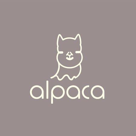 Alpaca sign illustration soft nature wool lama 版權商用圖片 - 133012849